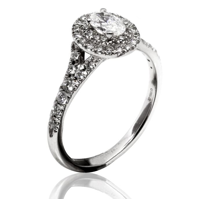 028c13940 18ct White Gold Diamond Halo Ring - Ian Gallacher