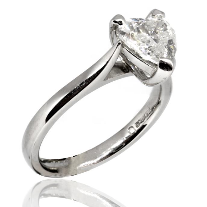 2312bda9607 Platinum Heart Shaped Diamond Ring