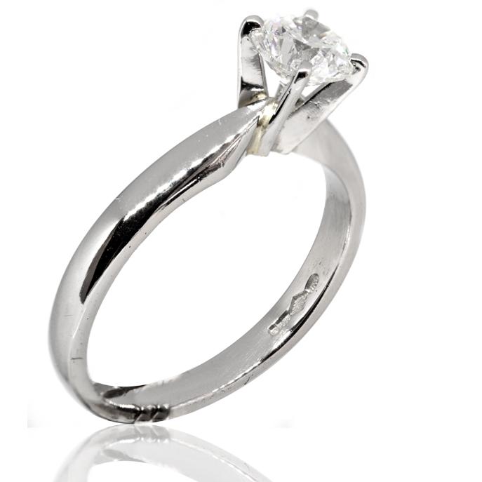 92e04b1fc Platinum Diamond Solitaire Ring - Ian Gallacher